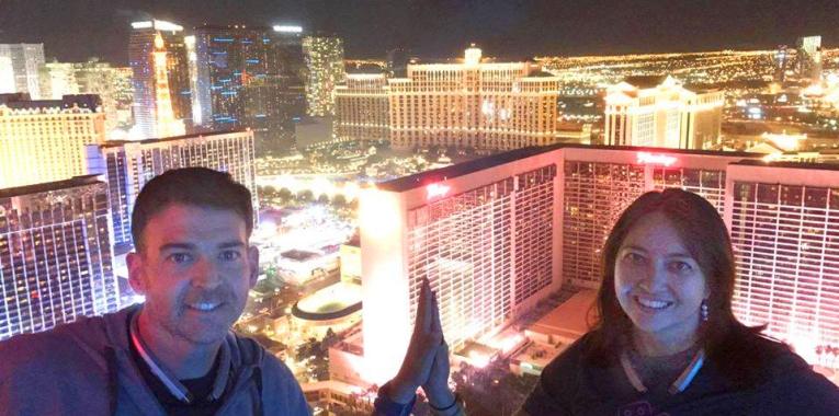 Wanita and Eduardo in Las Vegas