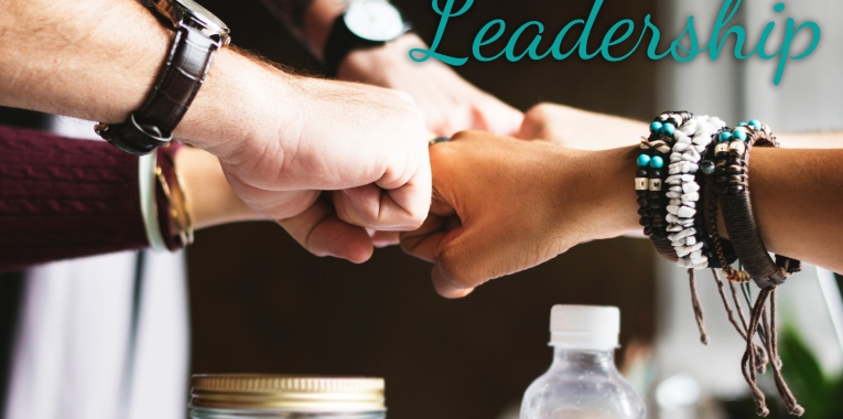 leadership fist bump